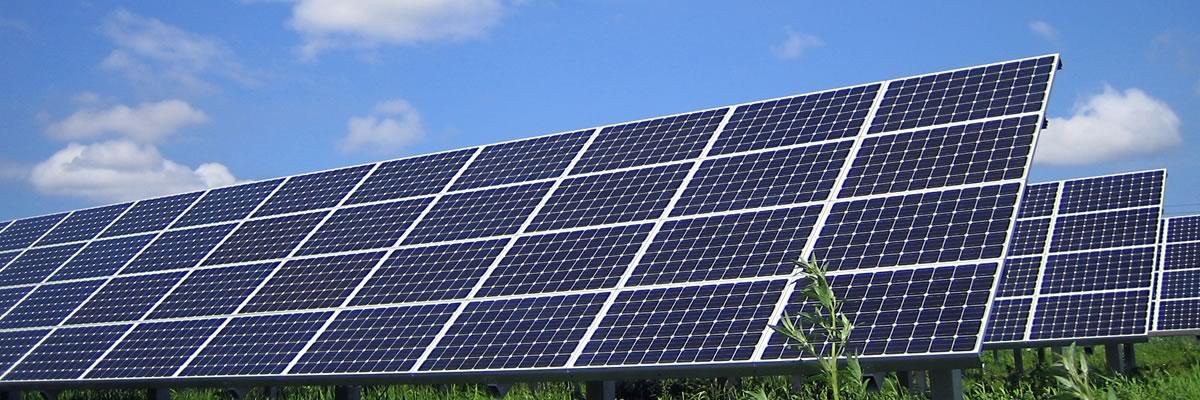 大手電力会社の大規模な太陽光発電システム