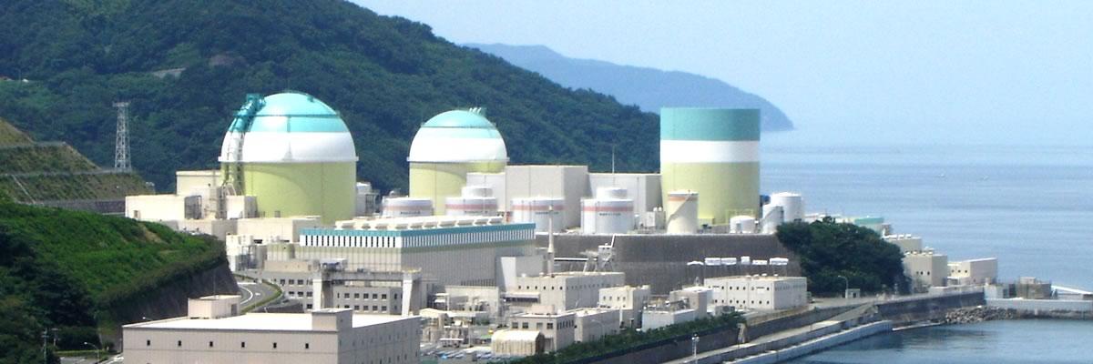 日本にいくつもある原子力発電所